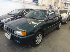 Volkswagen Gol Gol 1.0 Mi 2pts 1997 Verde Met Completo Ar +
