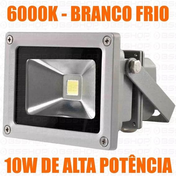 Refletor Led 10w Ip65 Bivolt 6000k Branco Frio