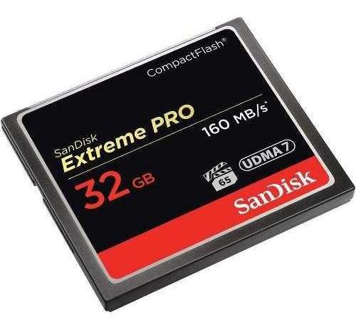 Memória Sandisk Extreme Pro Cf Compact Flash 32gb