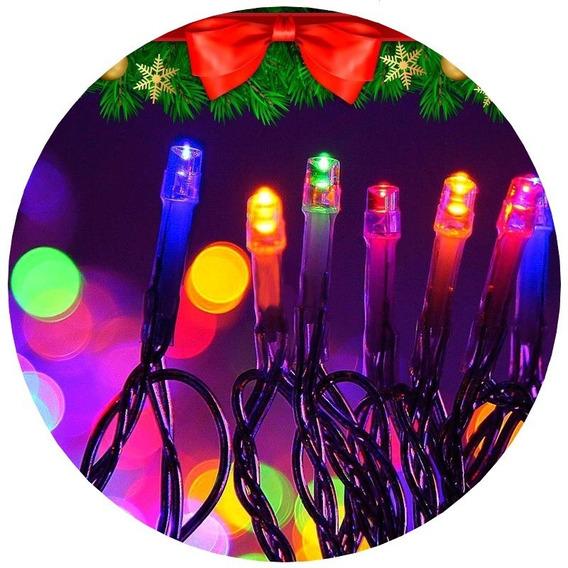 Luces Led 100 Lamparas 8 Metros Colores 220v Navidad