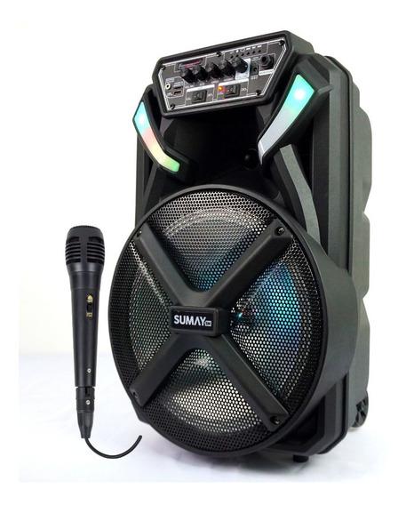 Caixa Amplificada Mp3 Usb Cartao 300w Sumay Bluetooth