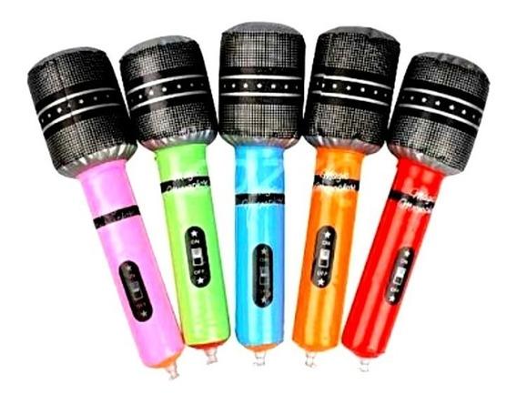 24 Microfono Inflable Fiesta Xv Años Batucada Evento Glow