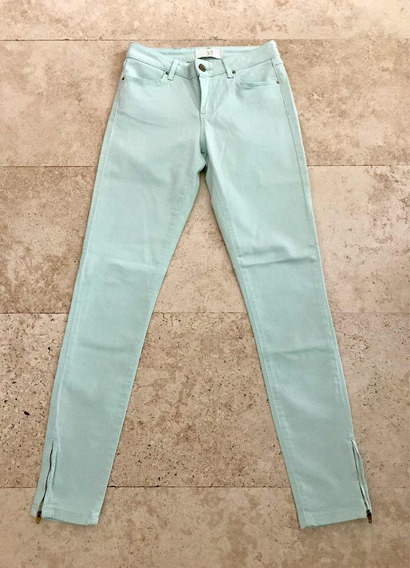 Efekto Moda Pantalón Jeans Zara Skinny Verde Aqua 2 -24