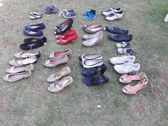 Lote 21 Calçados Feminino Infantil Adulto Masculino