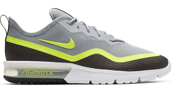 Tenis Nike Air Max Sequent 4.5 Se Caballero Gris Neon Bq8823