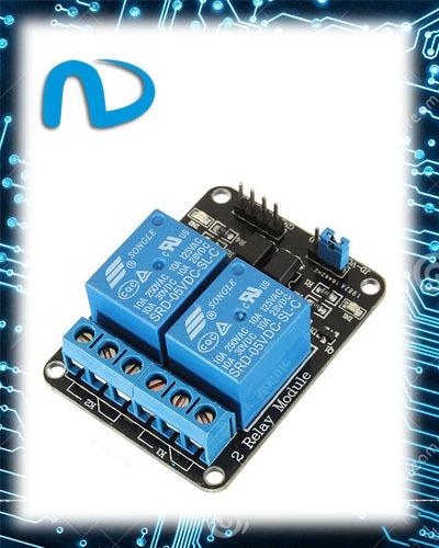 Modulo Rele 5v 2 Canais Para Arduino Pic Raspberry Avr