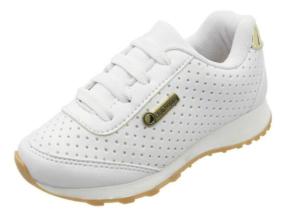 Tenis Infantil Feminino Barato Branco Menina Tênis 20.015