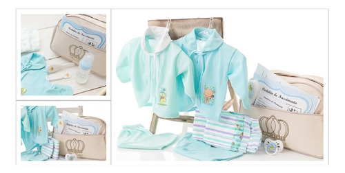 Imagem 1 de 8 de Kit Acessórios Bebê Reborn Menino Realista Roupinha Enxoval
