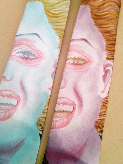 Divertidas Corbatas De Sonrisa Tipo Marilyn Monroe