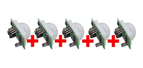 5x Sensor De Presença Pir Hc-sr501 Hcsr501- Arduino £