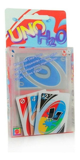 Cartas Uno H2o Sumergibles Agua Impermeable Splash Juego Mnr