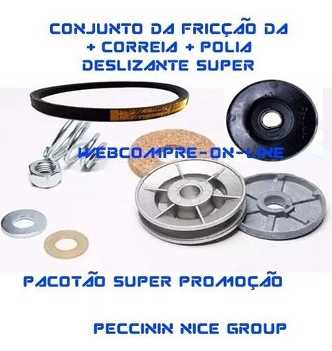 Conjunto Fricção Deslizante Super + Correia + Polia + Sensor