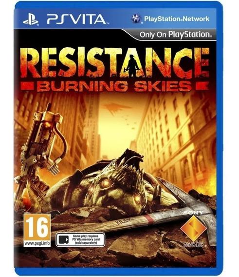 Jogo Resistance Burning Skies (mídia Física) - Ps Vita