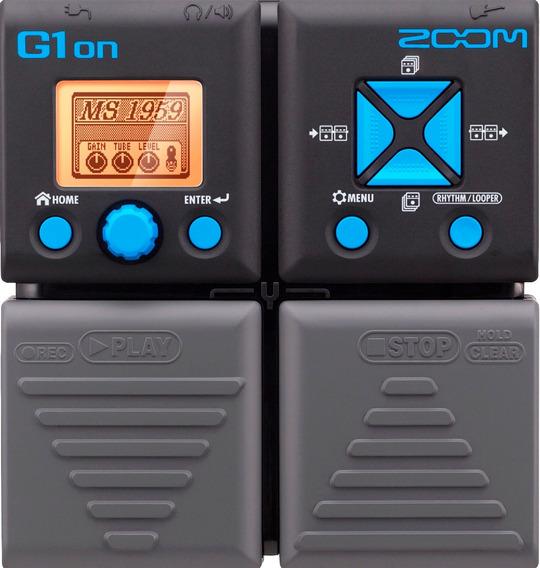Pedaleira Para Guitarra Zoom Modelo G1on + Fonte 9v