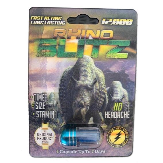2 Pastillas Vigorizantes - Rhino Blitz