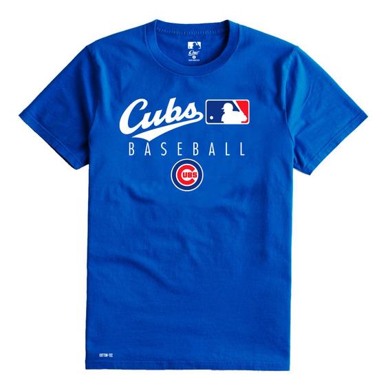 Playera Camiseta Cubs De Chicago Caballero