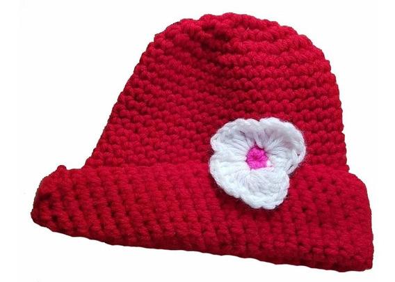 Gorro Invierno Nena Tejido A Crochet 18-24 Meses