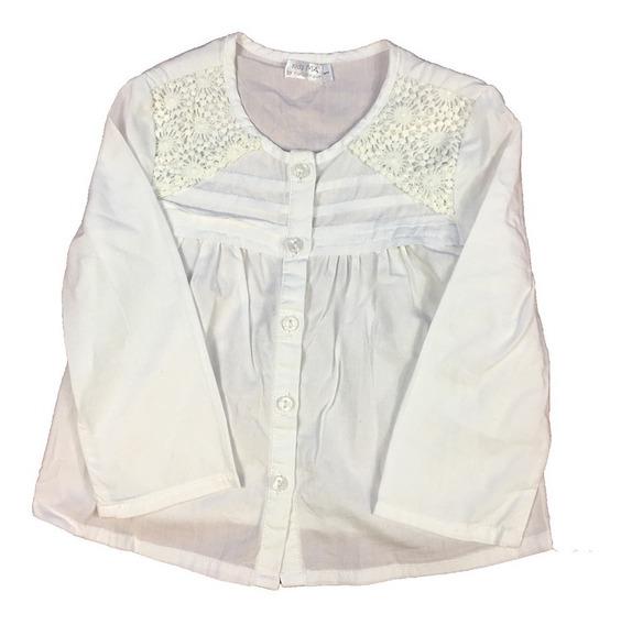 Blusa Maisonnave 6 Meses Niña Blanca