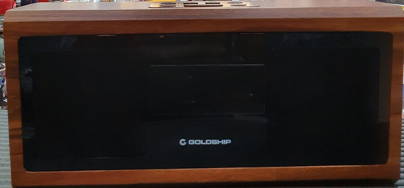 Caixa De Som Goldship Retro Clock Radio 4in1
