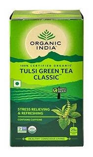 Tulsi Green Tea Organic India Chá Tulsi Indiano Original