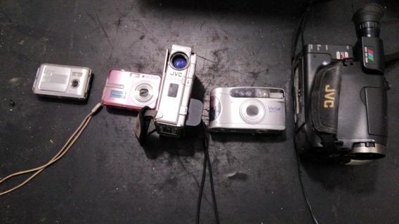 Lote Câmera E Filmadora 4 Unidades No Estado Leia Descrição