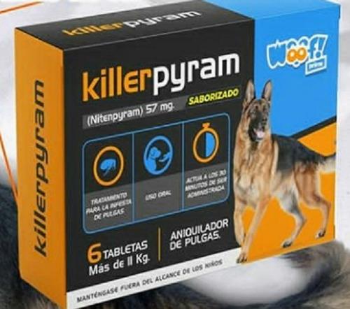 Pastillas Killerpyram Aniquilador De Pulgas Woof Perro 2ov .