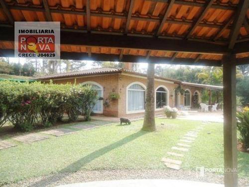 Chácara Com 5 Dormitórios À Venda, 34000 M² Por R$ 1.700.000,00 - Ressaca - Cotia/sp - Ch0045
