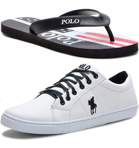 Kit Tênis Masculino Polo + Chinelo Casual Polo Bra Original