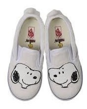 Tenis Vans Peanuts Snoopy/true Wht