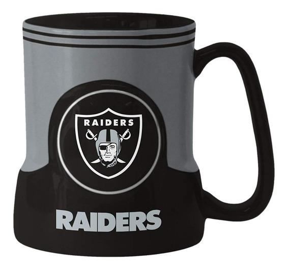 Taza De Cafe Ceramica Esculpida Nfl 18oz Oakland Raiders