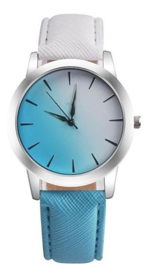 Reloj Para Dama Moderno Elegante Bicolor Tendencia