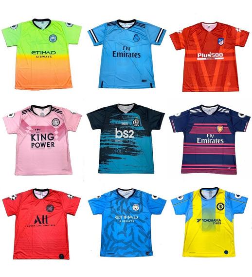 Pacote 10 Camisetas De Time Atacado Futebol Europeu 2020