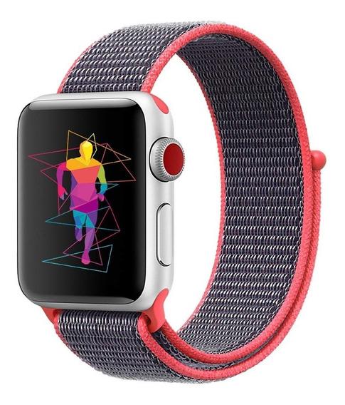 Correa Generica Nylon Sport Para Apple Watch 38-40-42-44mm