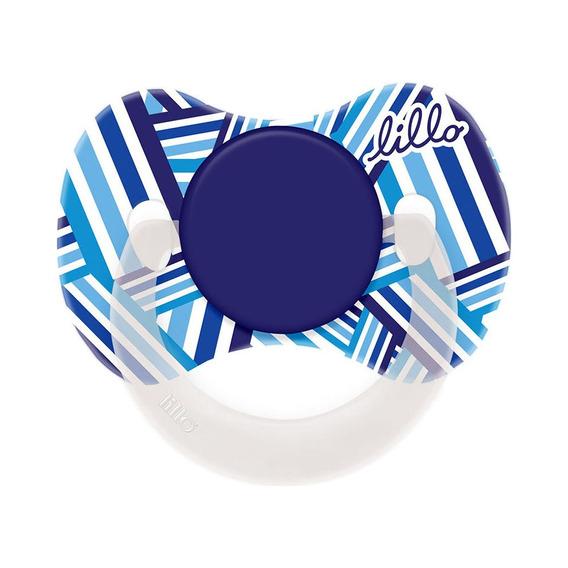 Chupeta Lillo Funny Estampas Orto Silicone - Tam2 Azul
