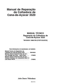 Manual Serviço Reparação Da Colhedora De Cana De Açucar 3520