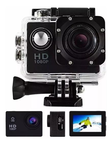 Filmadora Câmera Capacete Sports Mergulho Bike Moto 1080p H