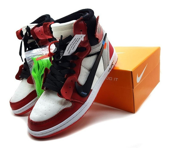 Tenis Botinha Nike Air Jordan Off White Original