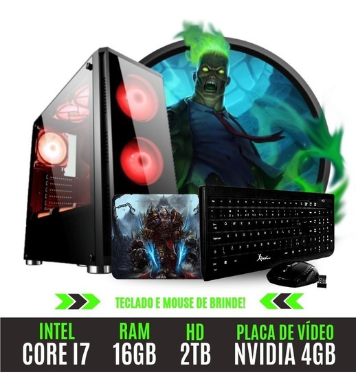 Pc Gamer Top Core I7 16gb 2tb Placa De Vídeo 4gb Incrivel