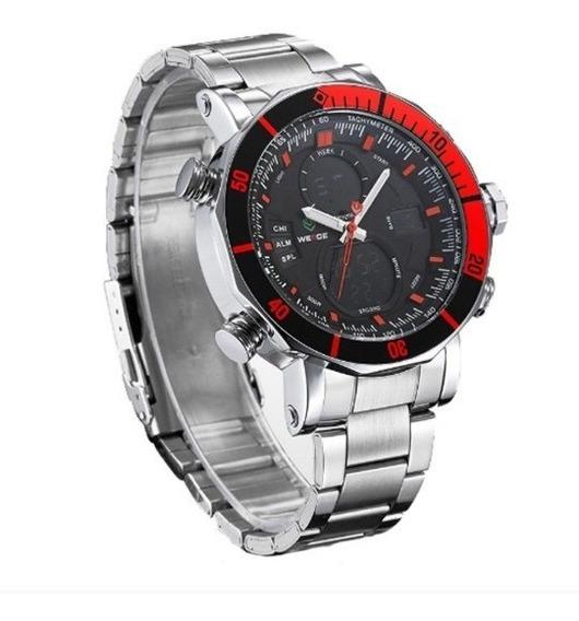 Relógio Masculino Original Prata Grande Pr D