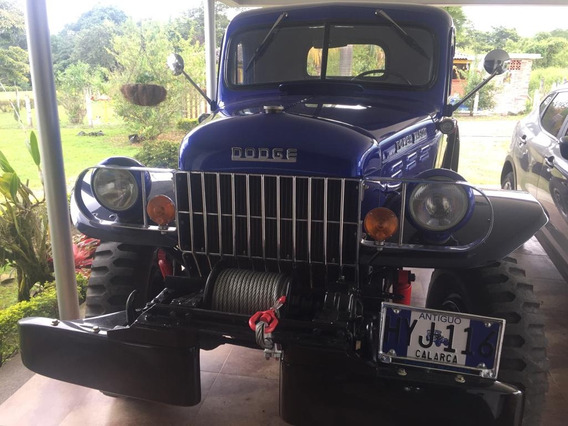 Doge Power Wagon Modelo 1951. Placa De Clasico Certificado
