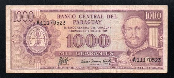 Paraguay Billete 1000 Guaranies Año 1952 P#201