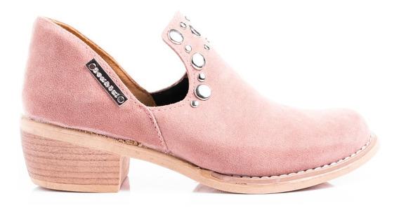 Zapatos Botinetas Mujer Botas Cuero Taco Cuadrado Plata