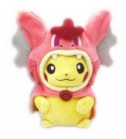 Pikachu Com Chapéu De Gyarados Fêmea Boneco Pelúcia Pokemon