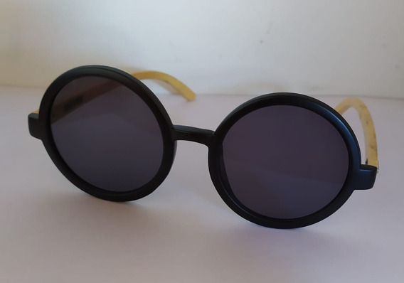 Óculos De Sol Redondo Madeira Uv400 Unissex Dreams Nome