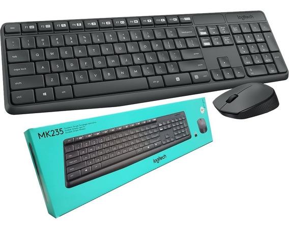 Kit Teclado E Mouse Sem Fio Wireless Logitech Mk235 Ç Mk 235