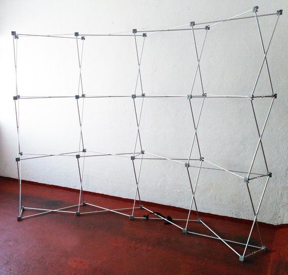 Oferta Muro Expandible Publicitario Stand Banner Curvo 3x2.2