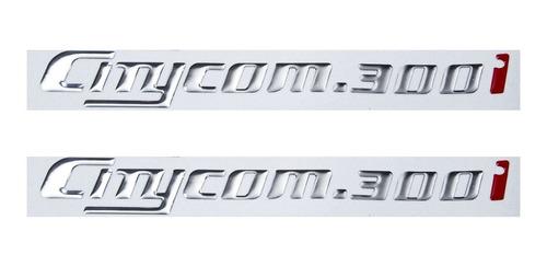 Kit Emblema Adesivo Resinado Dafra Sym Citycom 300i 001