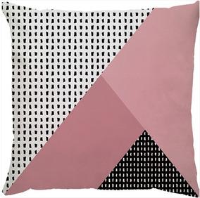b501f284d54d4a Almofada Estampada Sarja Colorida Geométrica C/ Enchimento