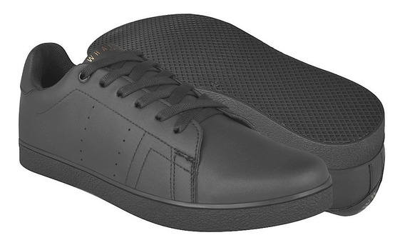 Tenis Caballero What´s Up 174282 Simipiel Negro 26-29