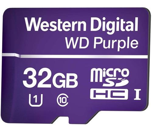 Imagem 1 de 3 de Cartão Micro Sd 32gb 16tbw Intelbras Wd Purple